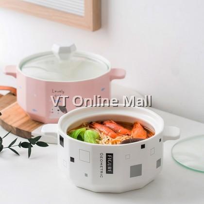 Rabbit Cat Pink & White Fashion Ceramic Bowl 1000ml