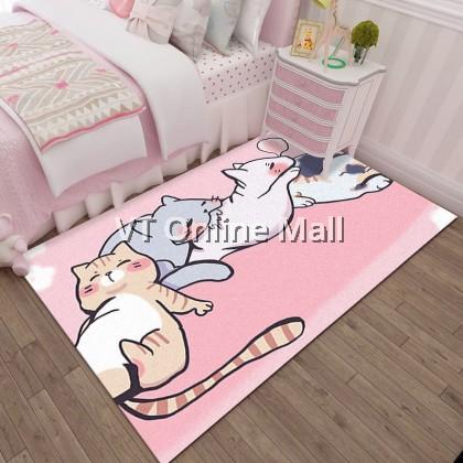 Cutie Kitty Cat Cartoon Carpet Floor Mat Rug (50 x 80cm)