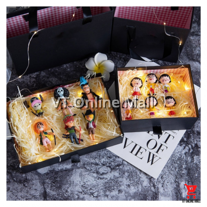 Cute Cartoon Characters Gift Box Set With Decorative Lights