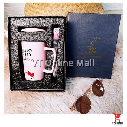 Cute Hello Kitty Black Gift Box Mug