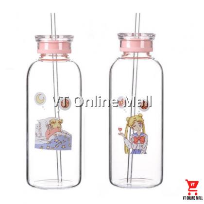 Gaming & Ribbon Sailor Moon Glass Drinking Bottle 700ml