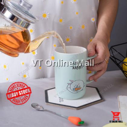 Cute Lovely Fatty Rabbit Surprise Gift Box Mug Spoon Home Dinnerware Set | Cawan Sudu Arnab Gemuk Comel Hadiah Comel Untuk Kawan